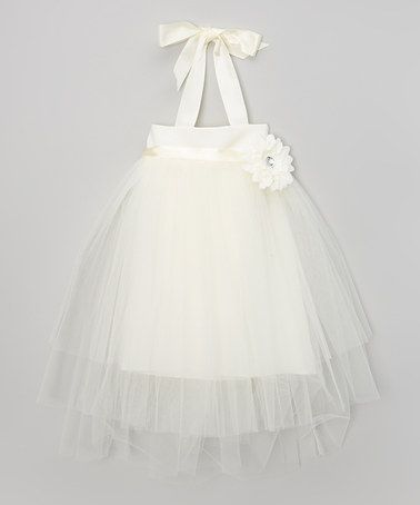 Another great find on #zulily! Ivory Flower Tutu Dress - Toddler & Girls by ClassyKidzShop #zulilyfinds