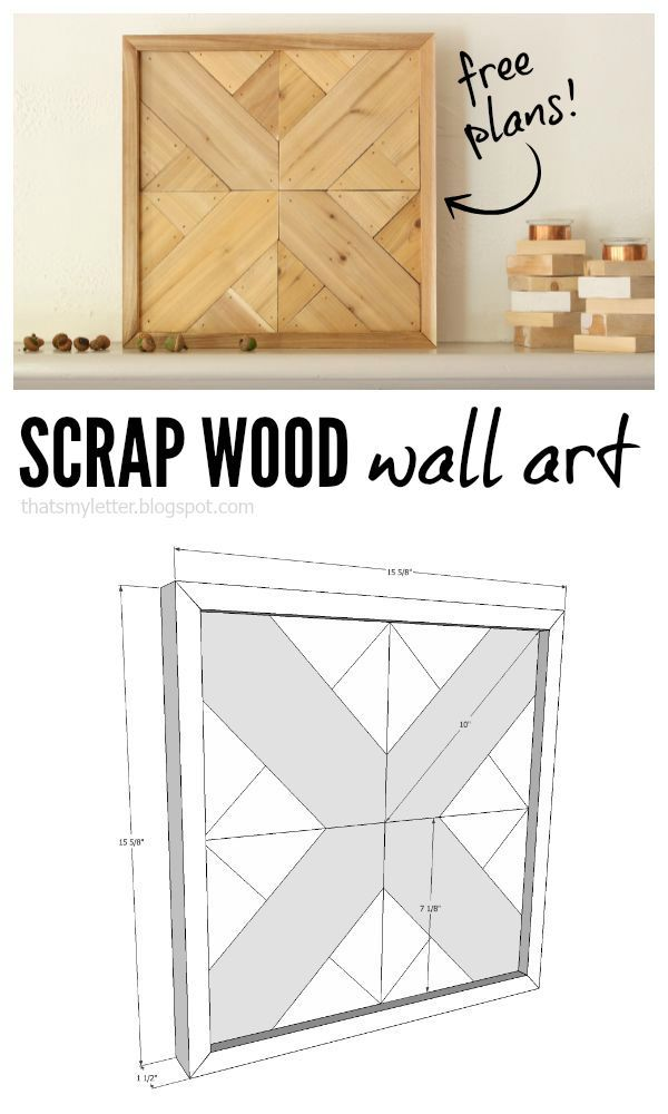 That's My Letter: scrap wood wall art with free plans