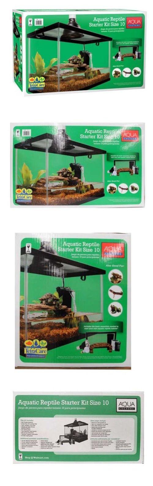 Aquariums and Tanks 20755: Aqua Culture 10 Gallon Reptile Kit Aquarium Tank Turtle Frog Habitat Setup New BUY IT NOW ONLY: $66.95