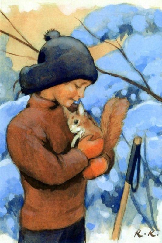 Rudolf Koivu, Poika ja orava + kuori - Huuto.net