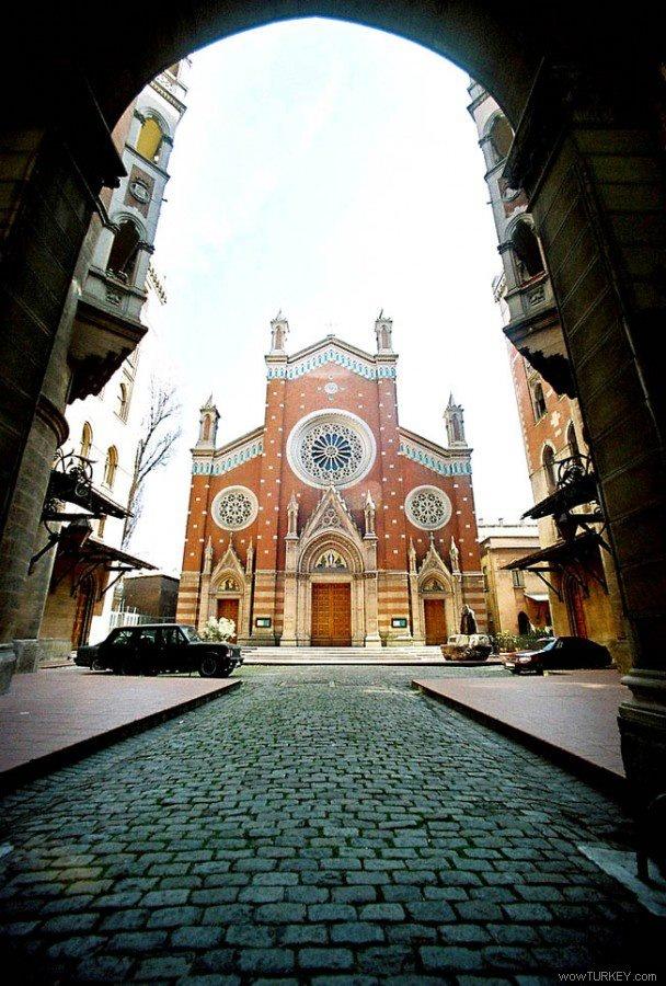 St. Antoine church - Istiklal caddesi Beyoglu-istanbul-Turkey