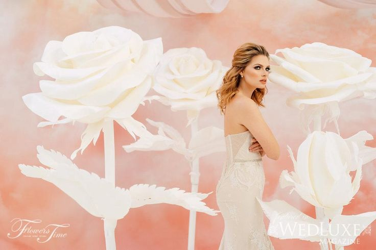Amalfi style shoot - model - white roses Wedluxe #bride#backdrop