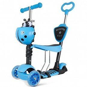 Самокат детский Scooter 5 в 1  синий