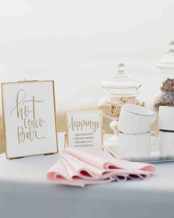 Hot Drink Ideas Perfect for Your Cool-Weather Wedding Reception | Martha Stewart Weddings - Help guests warm up at your cool-weather wedding with one of these delicious, festive hot cocktail ideas.