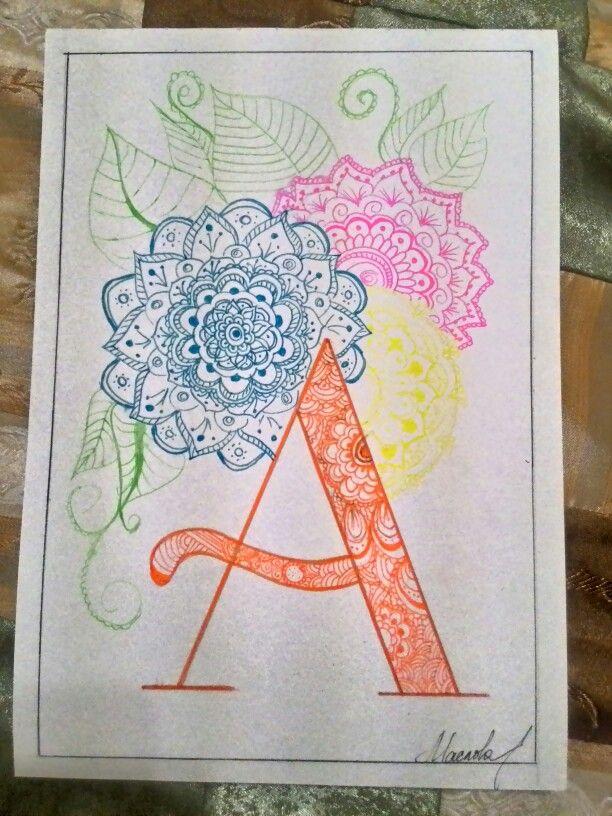#алфавит #плагиат #alphabet #art #doodle #mandala  случайно стырила чужую идею)