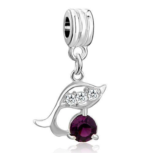 Pugster Light Amethyst Dolphin Crystal Dangle Bead Fit Pandora Charm & Bracelet Pugster. $0.49. Pugster are adding new designs all the time. Fit Pandora, Biagi, and Chamilia Charm Bead Bracelets. Free Jewerly Box. Money-back Satisfaction Guarantee. Unthreaded European story bracelet design