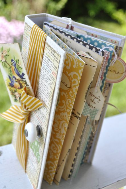 I wish I could see the binding on this mini scrapbook. I am using this same idea on one of my projects, but the binding is giving me fits!