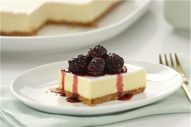 Philadelphia New York Style Sour Cream Topped Cheesecake Recipe Fruit Dessert Recipes Sour Cream Cheesecake Cheesecake Recipes