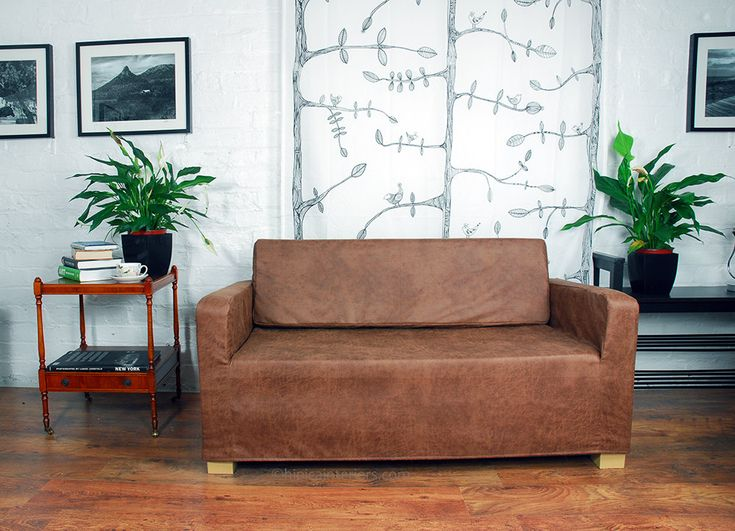 Distressed Effect Faux Leather Cover for the Ikea Solsta Sofa Bed by HipicaInteriors on Etsy