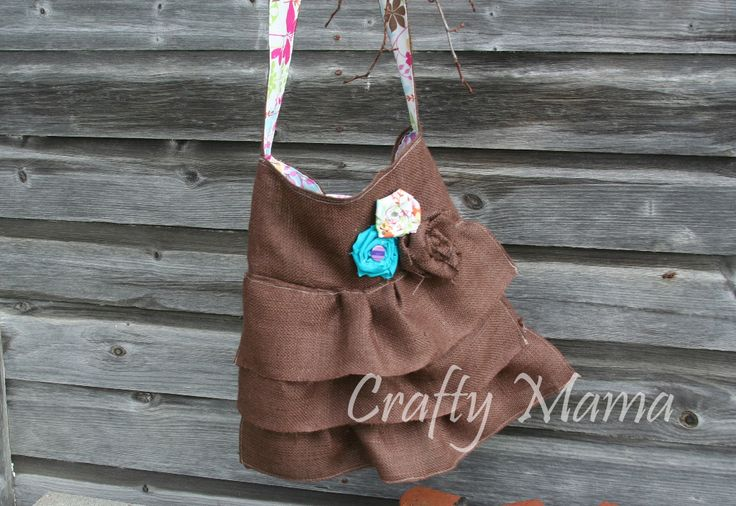Chocolate Burlap Purse   :) Crafty Mama