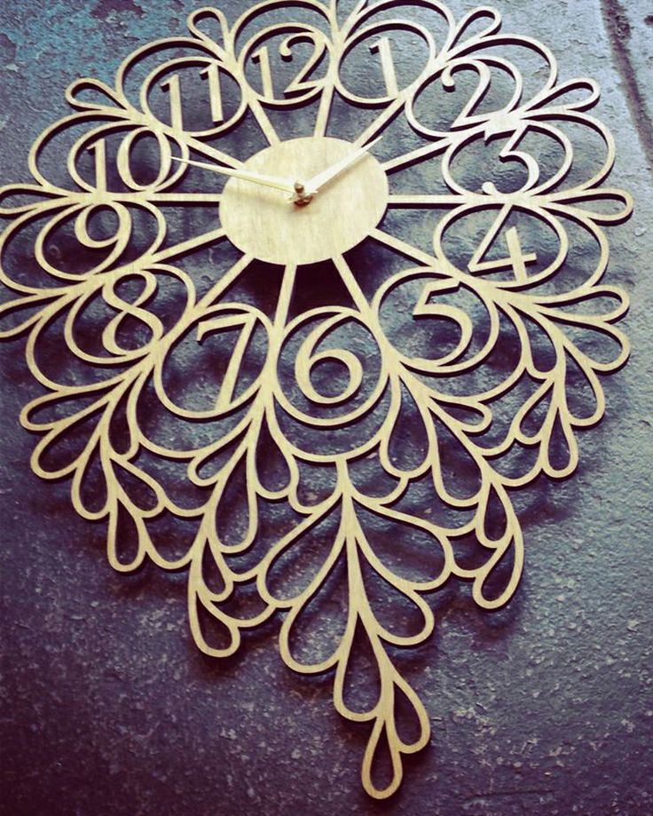 Darling Lite Laser Cut Wood Clock so pretty