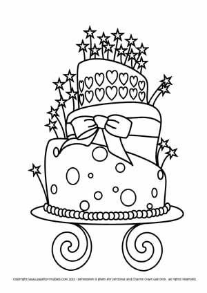 Image Detail for - FREE Digital Stamp - Birthday Cake