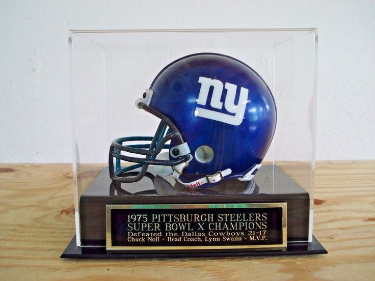 Display Case For Your Steelers Super Bowl 10 Autographed Football Mini Helmet #BobbysHangUps #PittsburghSteelers