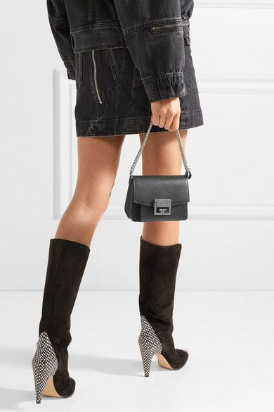 1131b220c62345 Givenchy | GV3 mini textured-leather shoulder bag | NET-A-PORTER.COM