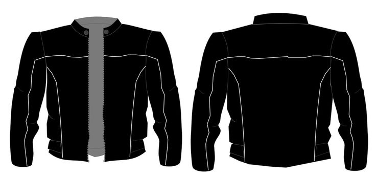 Modelo de jaqueta para motociclista
