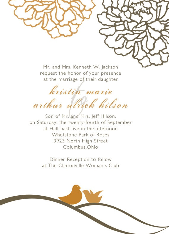 invitations outline