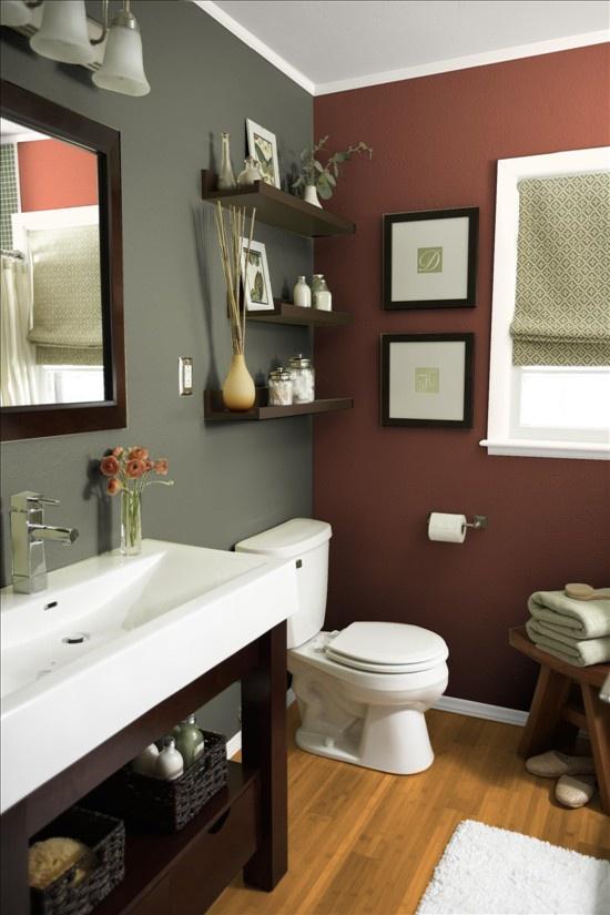 Gray Brown. Bathroom ...