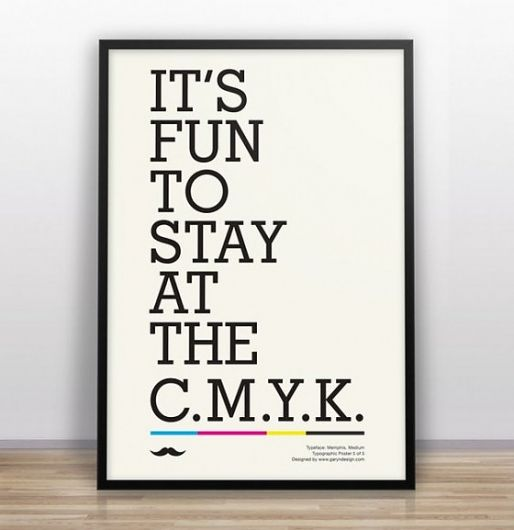 Designspiration — Funny Design and typographical posters by Gary Nicholson | Jared Erickson