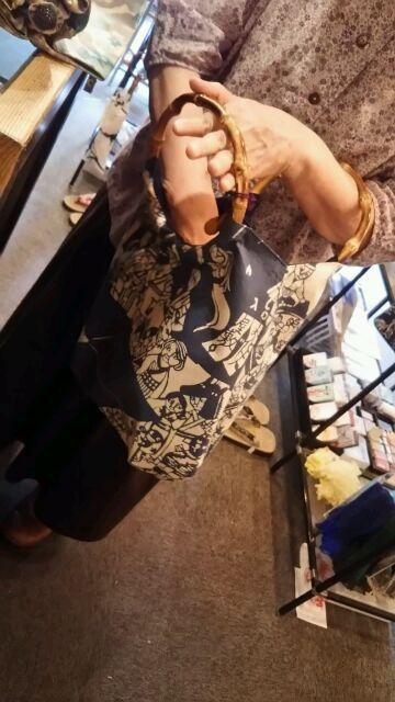 六方オリジナル手ぬぐい鴨川志野作 縁日のバッグ