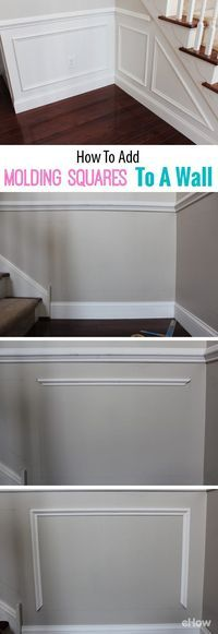 It's easy to instantly upgrade your walls with molding squares! Do it your self in a weekend with these simple instructions to fit your home and your space perfectly. Adds such a classic look and feel! http://www.ehow.com/how_6075175_add-molding-squares-wall.html?utm_source=pinterest.com&utm_medium=referral&utm_content=freestyle&utm_campaign=fanpage