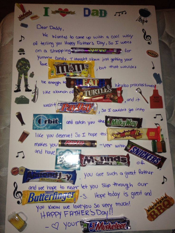My take on a candy message card for Father's Day