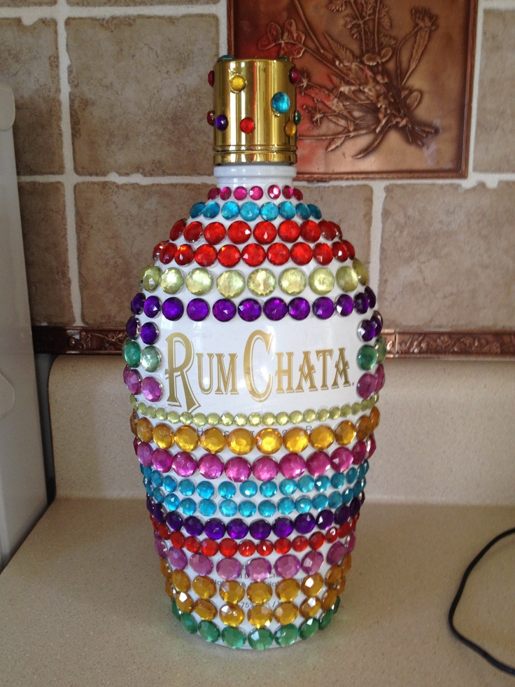 Bedazzled Rum Chata Great Bday Gift For A 21 Year Old