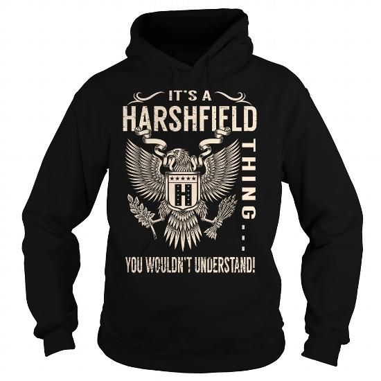 I Love Its a HARSHFIELD Thing You Wouldnt Understand - Last Name, Surname T-Shirt (Eagle) Shirts & Tees