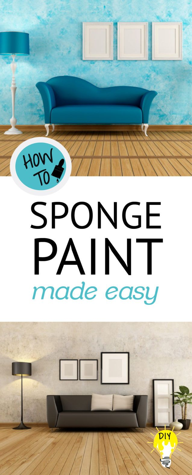 Sponge painting is easy and beautiful. It's requires no special tools, no expensive equipment, and no difficult process. Here's how it goes...