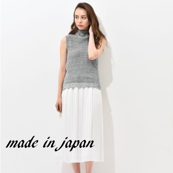 【日本製】送料無料!deuxmilleans(ドゥミルアンズ)大人かわいい白プリーツスカート