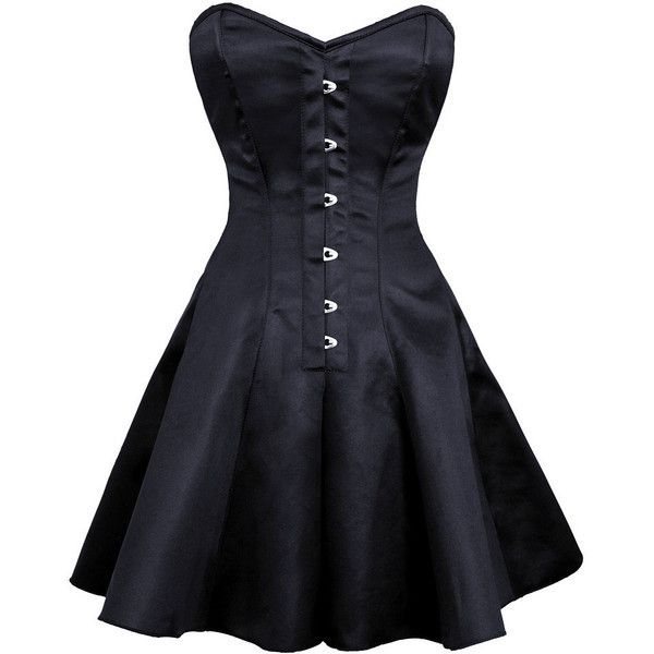 Ayana Gothic Plus Size Corset Dress Corset ($81) ❤ liked on Polyvore featuring dresses, corsets, goth dresses, plus size cocktail dresses, long corset dress, long cocktail dresses and goth corset