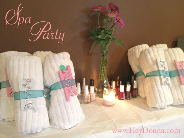 spa themed party to celebrate a 30th birthday spa party