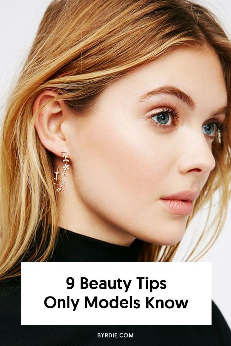 11 Fascinating Beauty Secrets From Top Models  Beauty hacks, Best