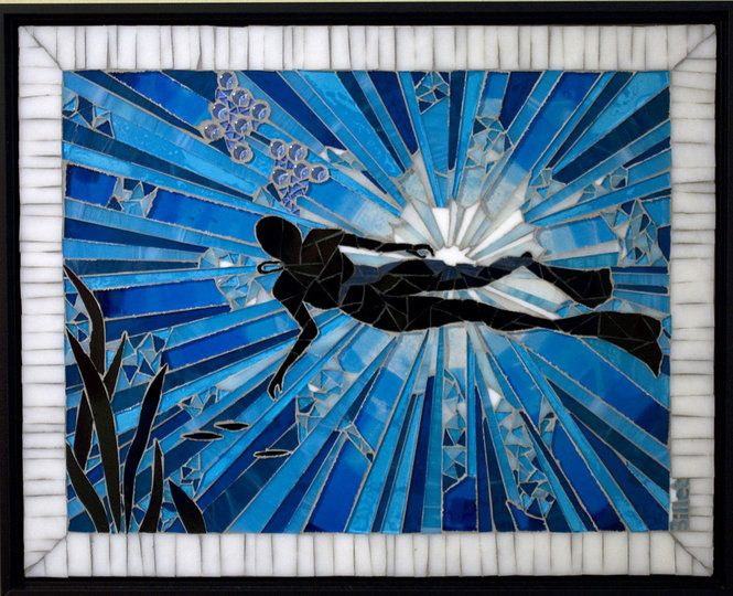 """""""Follow your Bliss"""" by glass artist Linda Billet This is a really cool and original piece."""