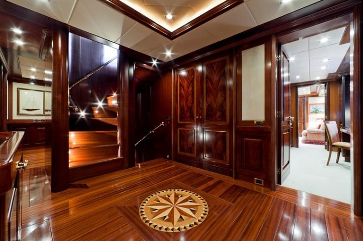#Mahogany Crotch #WoodVeneer Doors #Yacht Design.  Need something similar for your yacht interior?  Look at our inventory