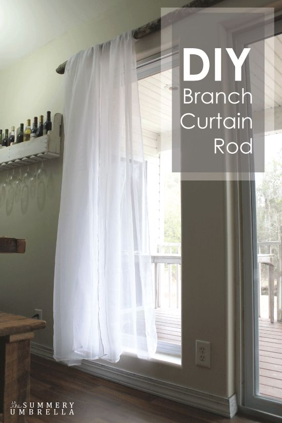 DIY Branch Curtain Rod   The Summery Umbrella