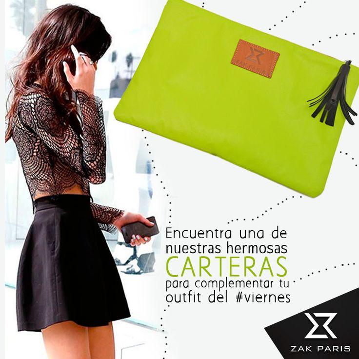 Encuentra una de nuestras hermosas carteras para complementar tu outfit del #viernes www.zakparis.com