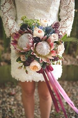 Stellar combo of lace, colors, ribbons for fall and/or rustic wedding...