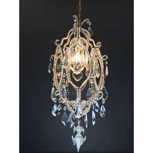 Lampadario Antico in cristallo - Periodo: 1900