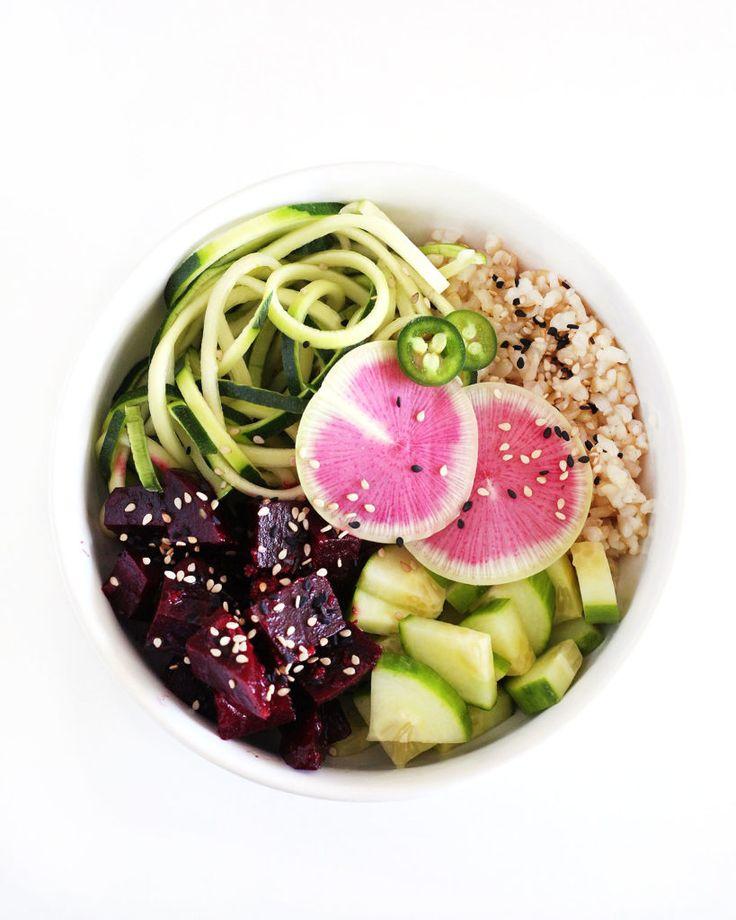 beet poké bowls on Clean Food Dirty City