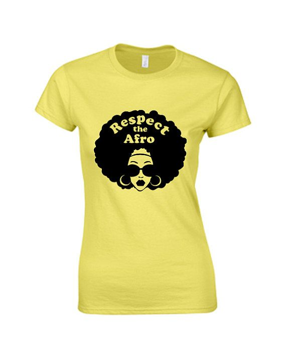 Handscreened+Respect+Afro+Woman+Tshirt++by+NewTribeNewTradition,+$25.00