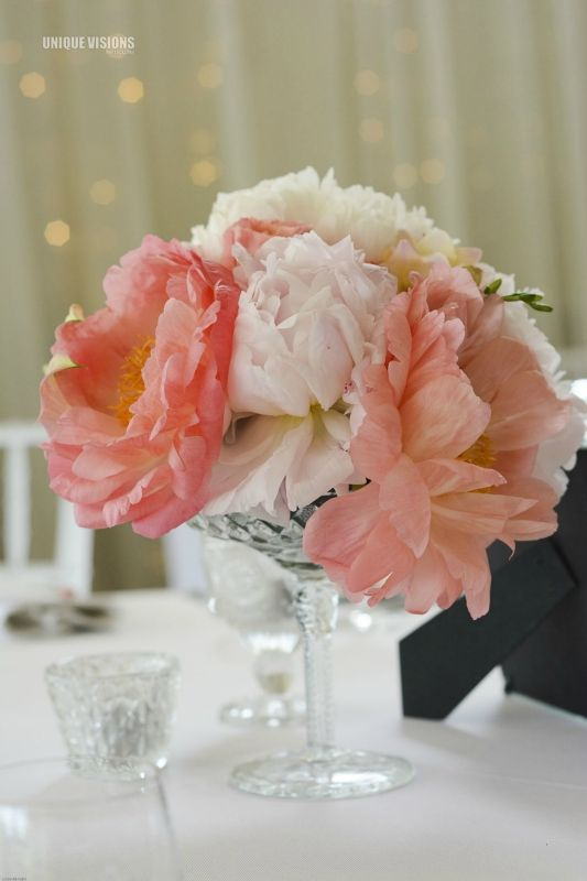 Table centrepieces by Willoughby Road Florist