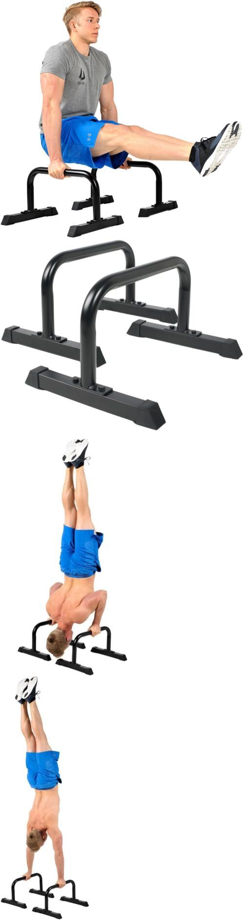 Pull Up Bars 179816: Push Up Dip Parallel Riser Bars Parallettes 12X24in Crossfit U-Shaped Handles -> BUY IT NOW ONLY: $120.99 on eBay!