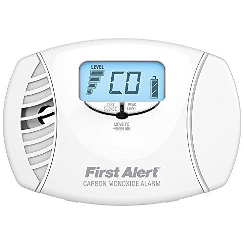 Carbon Monoxide Alarm AC Powered Plug-In with Battery Backup and Digital Displa