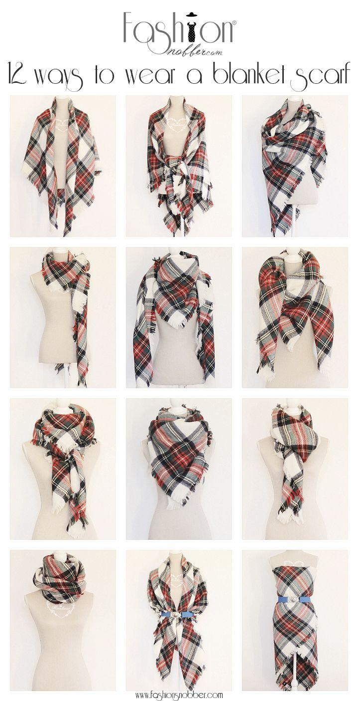 #Tutorial 12 ways to wear a #blanket #scarf. #FashionSnobber  http://www.fashionsnobber.com/12-modi-indossare-maxi-sciarpa-quadrata/