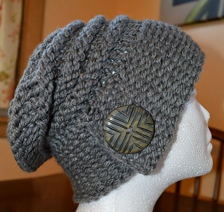 the city slouch hat loom knitting video tutorial make