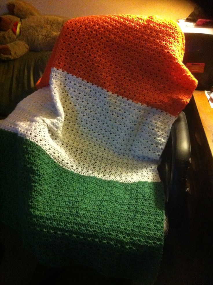 Crochet Quot Irish Quot Flag Afghan Craft Irish Crochet Baby