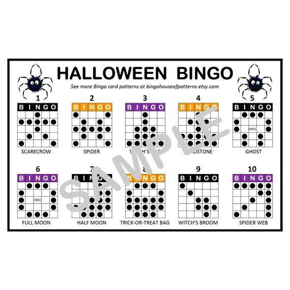Halloween Bingo Patterns.Pin On Crochet Patterns