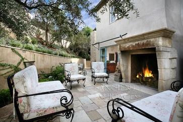 Antique Stone Fireplaces mediterranean fireplaces