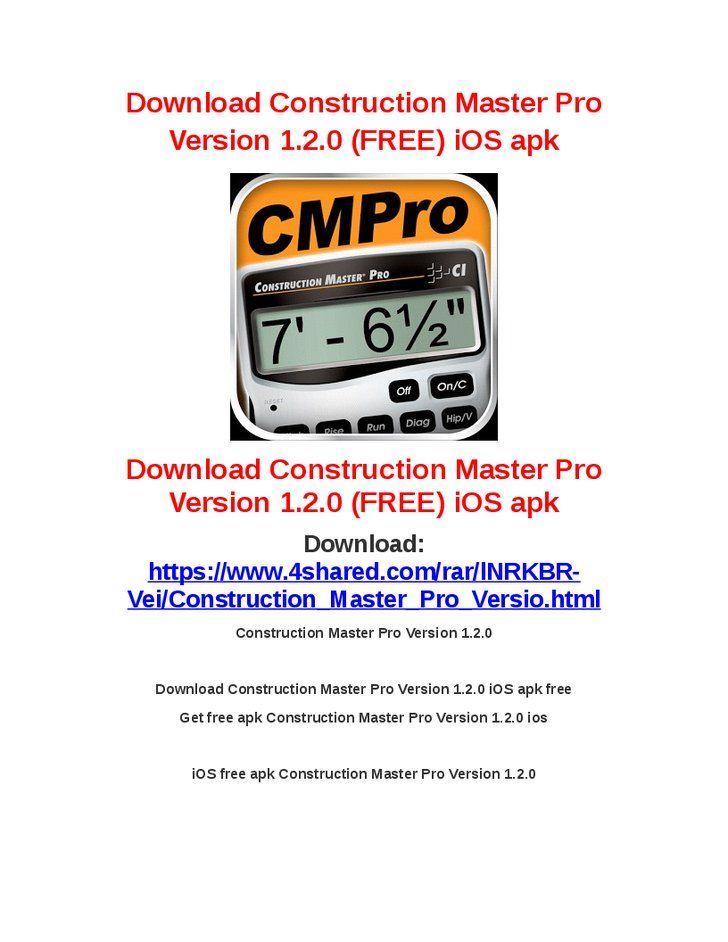 Construction Master Pro Version 1.2.0Download Construction Master Pro Version 1.2.0 iOS apk freeGet free apk Construction Master Pro Version 1.2.0 iosiOS free apk Construction Master Pro Version 1.2.0