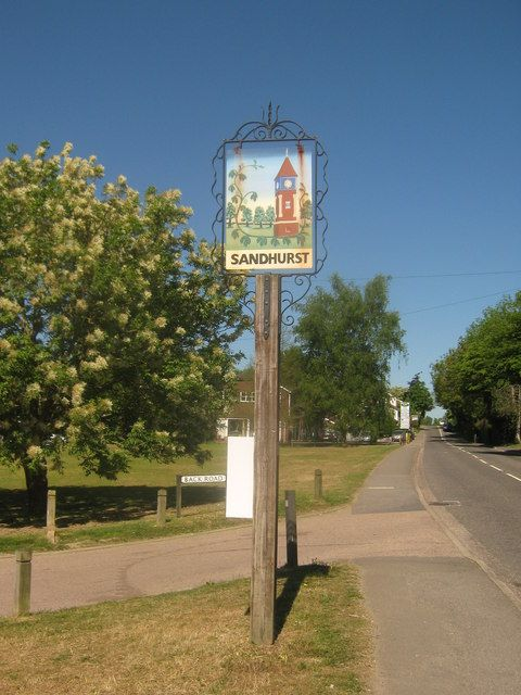 Sandhurst Village Sign by David Anstiss for Nikki :)